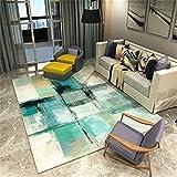 MIRUIKE Moderne abstrakte Teppiche für Wohnzimmer Hypoallergen rutschfest