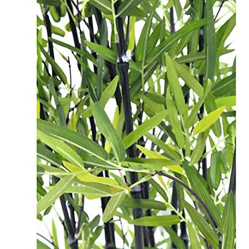 artplants – Künstlicher Bambus in Dekoschale, dunkle Kunststämme, 180 cm – Bambus im Topf/Künstliche Pflanze