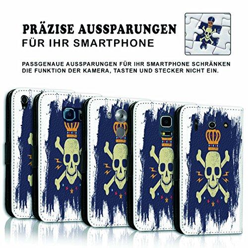 Wallet Book Style Flip Handy Tasche Case Schutz Hülle Schale Motiv Etui für Apple iPhone 6 Plus / 6S Plus - Variante Flip UMV13 Design12 Design 5