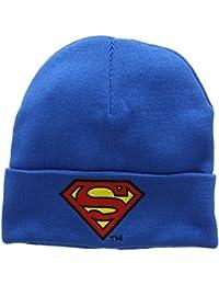 Bonnet en laine Superman Logo - Bonnet DC Comics - Super-héros - avec logo brodé - bleu - Design original sous licence - LOGOSHIRT