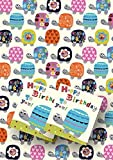 Jodds Luxury Tortoise Gift Wrap - 2 sheets with co-ordinating mini card gift tags