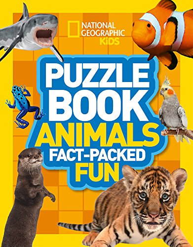 Puzzle Book Animals: Brain-tickling quizzes, sudokus, crosswords and wordsearches (National Geographic Kids Puzzle Books) por National Geographic Kids
