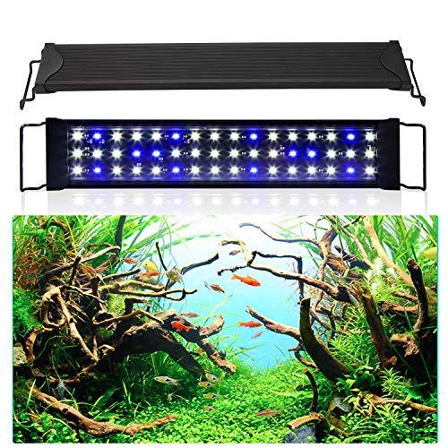wolketon LED Aquarium Beleuchtung 24W Universal Aquarium Lampe LED Pflanze mit Verstellbarer Halterung für Süßwasser-Aquarien...