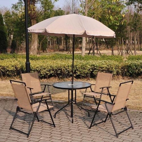 outsunny-garden-patio-textilene-folding-chairs-plus-table-and-parasol-furniture-bistro-set-beige-6-p