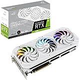 ASUS ROG Strix GeForce RTX 3080 White OC Edition 10 GB GDDR6X ekran kartı (PCIe 4.0, HDMI 2.1, DisplayPort 1.4a, eksenel tekn