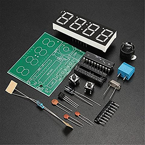 Gaoxing Tech. C51 4 Bits Digital LED électronique de production d'horloge Suite DIY Kits Set
