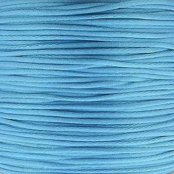 5m Sea Blue 1mm Rattail Satin Cord