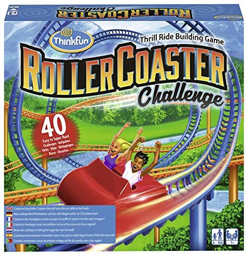 ThinkFun 76343 - Roller Coaster Challenge - Baue aufregende Achterbahnen und lass den Wagen sicher im Ziel ankommen!