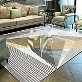Mengjie Modern Flauschiger Hochflor Shaggy Einfarbig Teppich Rechteckige graue Streifen 6MM für Wohnzimmer, Schlafzimmmer, Kinderzimmer, Esszimmer,160 * 230CM