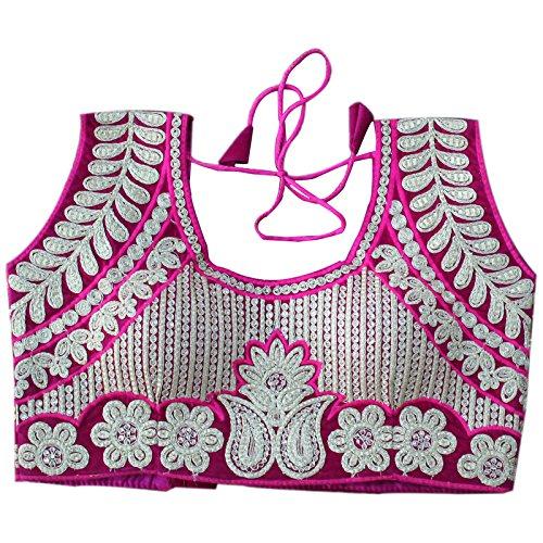 Generic Aryan Fashion Aryan Fashion Women's Velvet Stitched Blouse (Pink, ABM 0001_34)