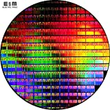 8 inch Silicon Wafer Integrated Circuit Uncut Geek Toy Ornament Single Crystal Plate Chip Double Side Polished Si Wafer IC