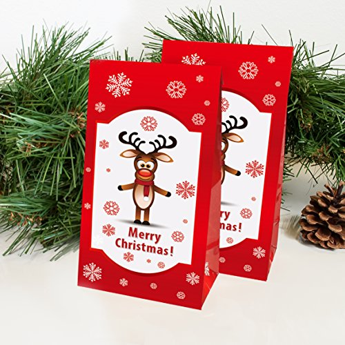 Adventskalender Rudolph, 2 x 24 Tüten individuell befüllbar