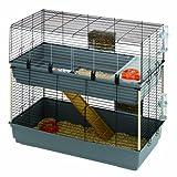 Ferplast 120 Double Cage pour Lapin Gris 118 x 58 x 102 cm
