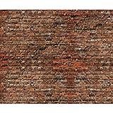 decomonkey Fototapete Ziegelsteine 400x280 cm XL Tapete Wandbild Wandbild Bild Fototapeten Tapeten Wandtapete Wandtapete rot Textur Stein Muster Stein