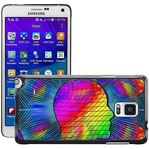 Print Motif Coque de protection Case Cover // M00156666 Cabeza de silueta color de la opinión // Samsung Galaxy Note 4