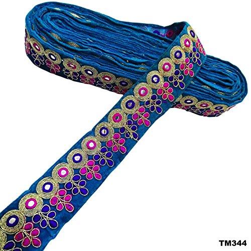 india-sari-desgaste-etnicos-borde-azul-vestido-de-fiesta-en-casa-de-encaje-arte-de-la-tela-decorativ