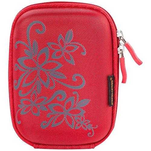 Arkas CB40725 Fototasche Hartschalen aus Eva-Stoff mit 2-seitigen Reißverschluss für Kamera/Apple iPod/Handy