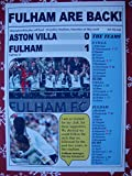 Sports Prints UK Fulham 1 Aston Villa 0-2018 Championship play-off final - souvenir print