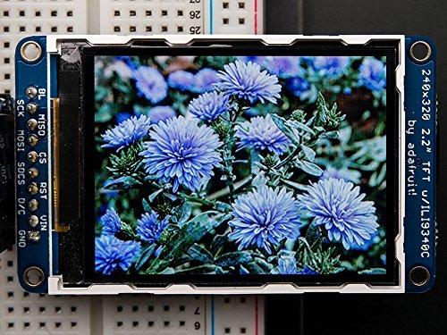 "Adafruit 2.2"" 18-bit color TFT LCD display with microSD card breakout [ADA1480]"