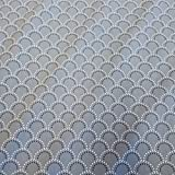 Stoff Baumwollstoff Meterware grau weiß Halbkreis Punkte Bogen Kleiderstoff