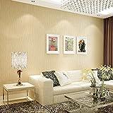 Simple moderno Plaid liso color sólido papel pintado no tejido amplio living comedor dormitorio de papel pintado de pared a pared , meters yellow