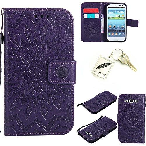 Preisvergleich Produktbild Silikonsoftshell PU Hülle für Galaxy S3 i9300 Tasche Schutz Hülle Case Cover Etui Strass Schutz schutzhülle Bumper Schale Silicone case+Exquisite key chain X1#KC (3)