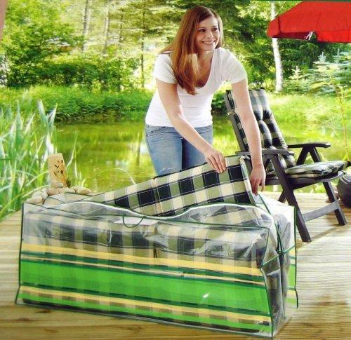 GARDENLINE Aufbewahrungstasche für bis zu 4 Gartenstuhlauflagen - Maße: 125 x 55 x 32 cm
