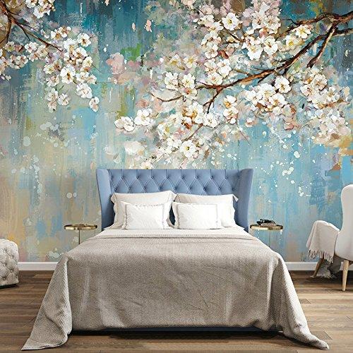 Chan-Mei 3D der Chinesischen Handgemalte Kunst Ölmalerei Blumen und Vögel auf dem Sofa im Wohnzimmer an der Wand Malerei abstrakte Tv Hintergrund Tapete 120cmX120cm (Vogel-wand-kunst-malerei)