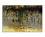 Sinus Art Wandbild 120x80cm Vintage Mosaik mi Beige, Braun, Blau, Grau, Schwarz und Weiß auf Leinwand für Wohnzimmer, Büro, Schlafzimmer, Ferienwohnung u.v.m. Gestochen scharf in Top Qualität