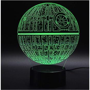 Lampe Originale 3d Led Etoile De La Mort Amazon Fr Luminaires Et