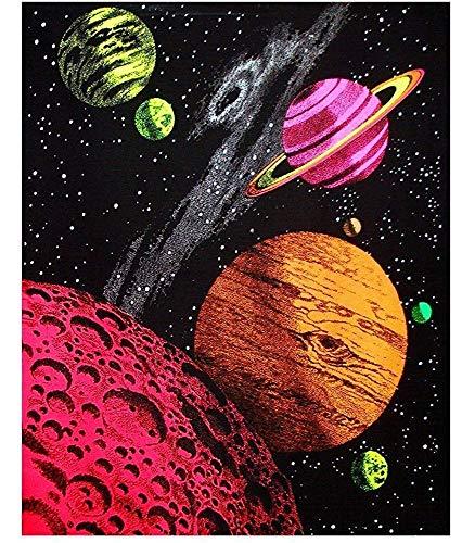 EBONI ELLIOTT Twenty-Three Home Decoration Galaxy Blacklight Reactive Print Poster 24X36 Inch Canvas Poster (Blacklight Galaxy)