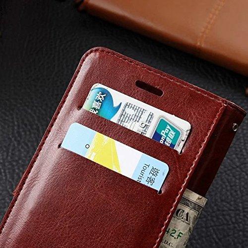 Wkae Case Cover caso Samsung J7, in pelle modello di colore caso di stile del raccoglitore solido disegno magnetico Flip Folio copertura dellunità di elaborazione della copertura della cassa standup  Red