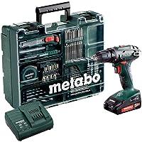 Metabo 602207880 Akku Bohrschrauber BS 18 Mobile Werkstatt Set, 18 V