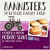 Bannisters 4 Potato Skins Baked and Filled Cheese and Smoky Bacon, 260g (Frozen)