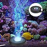 FTALGS Acquario LED illuminazione muto 12RGB LED luce disco bolle Fish Tank stagno minerale bolle Air Stone Disk per San Valentino, Matrimonio, Stagno