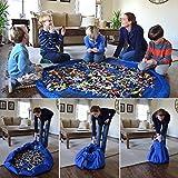 Ce point est un sac de rangement de jouets enfants, qui est fait de nylon résistant.59 pouces de diamètre, non seulement un organisateur de jouet, mais aussi un jeu de tapis pour les enfants et les parents à jouer.Solution idéale pour les petits joue...
