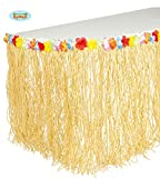 Hawaii Bast Deko Sichtschutz Girlande Blumen Feier Beach Party Bunt ca. 275x75cm
