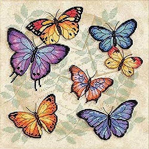 Dimensions Gezählter Kreuzstick Set, Butterfly Profusion -