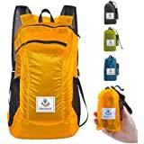 4Monster Faltbarer Rucksack Ultra Leicht, Unisex Tagesrucksack Outdoor, Wasserdichter Wanderrucksack für Camping Wandern Reis