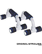 Strauss Moto Push Up Bar, Pair (Black/Blue)