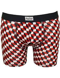 Happy Socks Filled Optic Men's Boxer Brief, Navy/White/Red