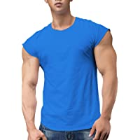 Uomo Atletico Magliette Tees Corto Manica Muscolo Taglio per Bodybuilding Allenarsi Formazione Fitness Top Equipaggio…