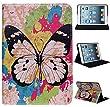 Elegant Multi-Function Schutzhülle Schutzhülle Hülle Tasche Lederhülle für Apple iPad Mini, Leather Case Cover Stand Hülle KXC0027 black-butterfly