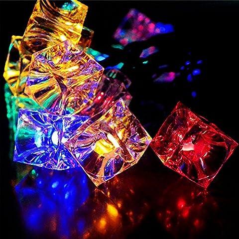 30 LED Strip Lichterkette Solar-IMMIGOO® LED wasserdicht Outdoor-Solarleuchte in Form