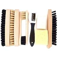 Delara - Set di 9 spazzole in legno e setole naturali, made in Germany