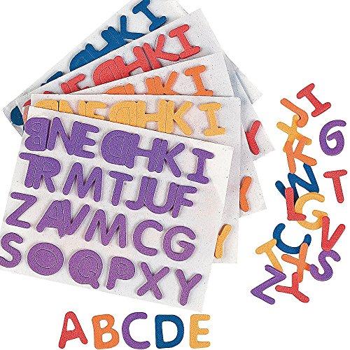 Elfen und Zwerge 6 x ABC Alphabet 156 Buchstaben Aufkleber Sticker Moosgummi Schulanfang Schultüte Beschriftung Geburtstag Schütze Einschulung