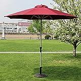 LNDDP Ombrelli Ombrello Mercato Patio Esterno Giardino Tavolo da Giardino Tettoia Ombrellone con palo in Alluminio Protezione UV 270 cm * 250 cm (Colore: Rosso Vino)
