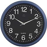 Dojana Plastic Wall Clock DW3001-BLUE-BLACK