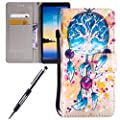 For Samsung Galaxy Note 8 case,Feeltech JAWSEU Samsung Galaxy Note 8 PU leather Wallet Flip Cover Multi Function Card Slots Protective Cases with Cute Animal & Colourful Pattern Design [Stand Function][Magnetic Closure] Flip Folder Card Holders Money Pouc