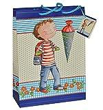 Unbekannt Geschenkbeutel / Geschenktasche Junge groß - Schulanfang Schuleinführung Geschenktüte Tüte Beutel Tasche